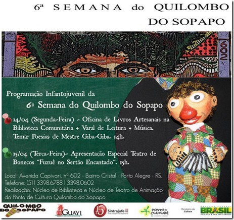 6ªsemana quilombo do sopapo teatro e poesia