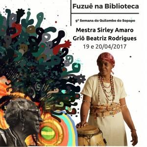 Fuzuê na Biblioteca na 9ª Semana do Quilombo do Sopapo